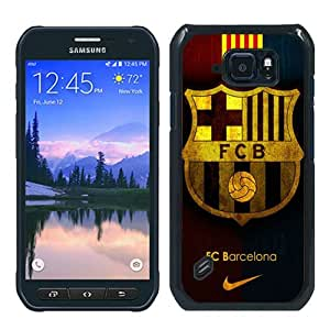 Unique Samsung Galaxy S6 Active Case ,Hot Sale And Popular Designed Case With Fc Barcelona Black Samsung Galaxy S6 Active Skin Cover Great Quality Phone Case