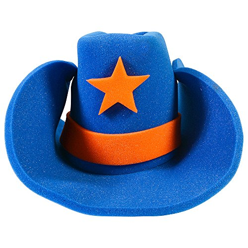 Huge Funny and Crazy Blue Cowboy Hat Super Size Cowgirl Hats Funny Party Hats (Lone Cowboy Adult Costume)