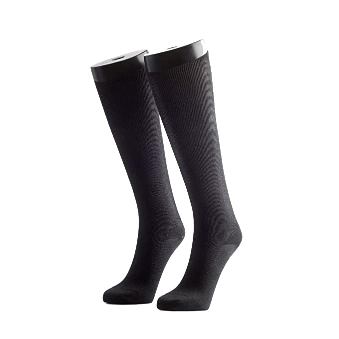 236de6c0fd Spresso Unisex Egyptian Cotton Calf Length Compression Socks - Black (Pack  of 1 Pairs): Amazon.in: Clothing & Accessories