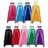 Adults Superhero Capes and Mask Set-Men & Women Cosplay Fancy Cloak-DIY Dress Up Halloween Costume for Kids