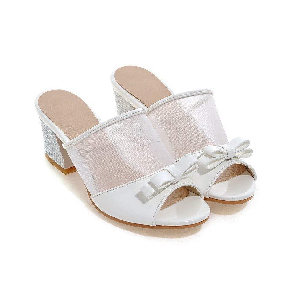 blanc HommesGLTX Talon Aiguille Talons Hauts Sandales  Grande Taille 30 45 46 47 48 Style été Femmes Chaussures Décontracté Maison Sandales De Plage Sandales 8077-1