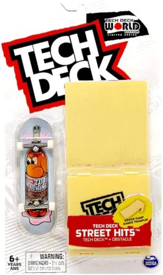 TECH DECK Street Hits World Edition Limited Series Element Skateboards Script Tie Dye Car Complete Fingerboard and Curved Rail Obstacle