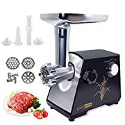 Lennov Electric Meat Grinder and Duty Household Sausage Maker Meats Mincer Food Grinding Mincing Machine Powerful Copper Motor