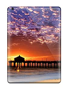 New Style Tpu Shockproof/dirt-proof Colorful Sky Manhattan Beach Cover Case For Ipad(air) 9125118K33575794