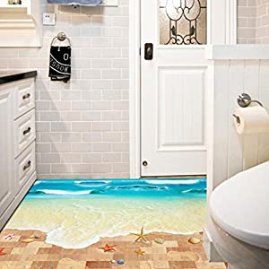 Amazoncom Wall StickerSaingace Home Decor 3D Beach Floor Wall