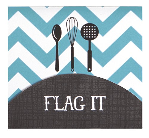 C.R. Gibson Cookbook Page Flag Set, 375 Count, Measuring 3""