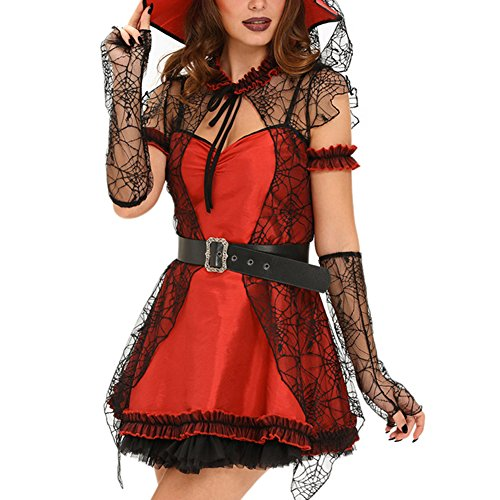 [Elakaka 6pcs Mischievous Witch Halloween Costume(Size,M)] (Sexy Halloween Costumes Canada)