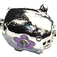 Charm Buddy Silver Pig Charms Bead Fit Pandora Style Bracelets
