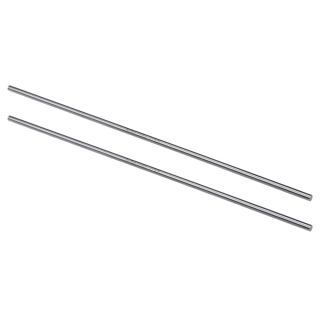 sourcing map HSS Lathe Round Rod Solid Shaft Bar 2mm Dia 200mm Length 5Pcs