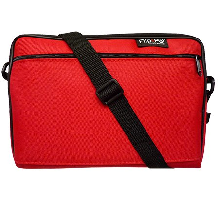 Flip-Pal Deluxe Carry Case with Pocket - Red ()