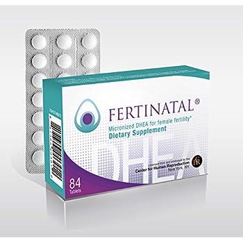 Fertinatal DHEA, 75 mg per day