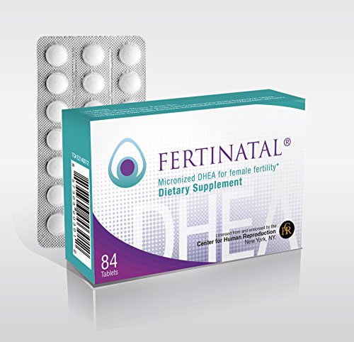 Fertinatal DHEA, 75 mg per day
