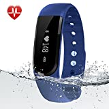 Fitness Tracker Watch - Egiant Waterproof Activity Tracker Bracelet with Heart Rate Monitor - Bluetooth 4.0 Touch Screen OLED Wristband Call MSM Reminder for ios and Android Smartphone