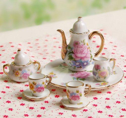 8pcs Dining Ware Porcelain Tea Set Dish Cup Plate 1 6
