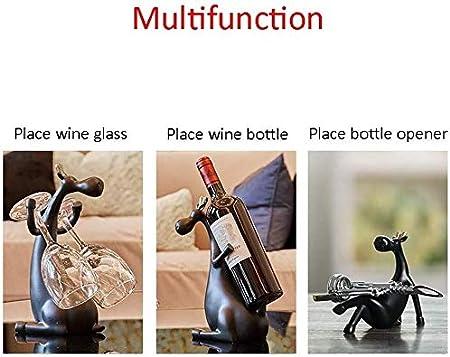 HJXSXHZ366 Estantería de Vino Estante del Vino Decoración Sala gabinete del Vino Creativo Decoraciones caseras Estante del Vino Rojo Estante de Vino pequeño