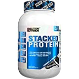 Evlution Nutrition Stacked Protein Protein Powder With 25 Grams of Protein, 5 Grams of BCAA's and 5 Grams of Glutamine (Stacked Protein 2 LB, Cookies & Cream)