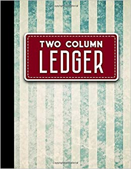 amazon com two column ledger ledger pad accounting ledgers for