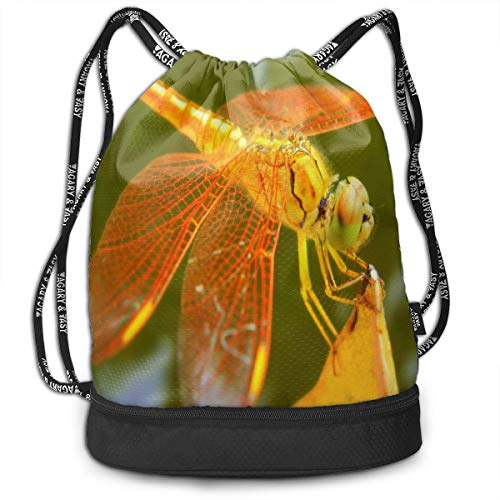Drawstring Bag Dragonfly Orange Womens Gym Backpack Fabulous Mens Travel Small Bags For Youth -