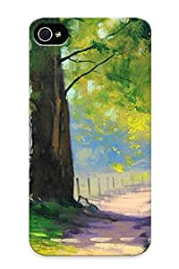 Armandcaron Premium Protective Hard Case For Iphone 4/4s- Nice Design - Road Between Trees hjbrhga1544
