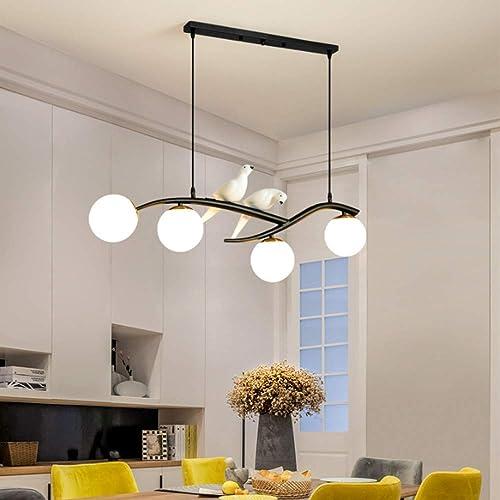 Modern Vivid Birds Chandelier 4 Lights Pendant Light Ceiling Mounted Light Fixture