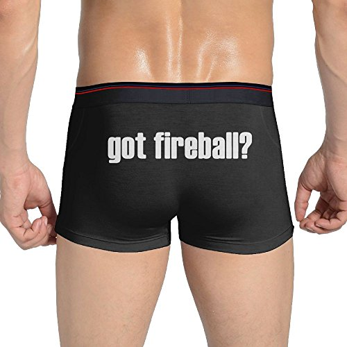 Oxikafa Sexy GOT FIREBALL Seamless Stretchable Boxer Briefs For Fashionable Men Black M