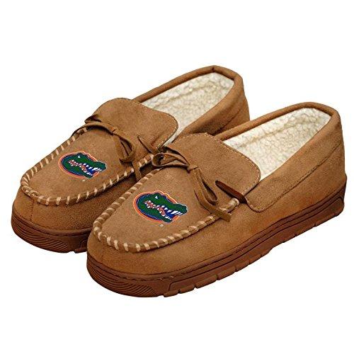 - College Mens Team Logo Moccasin Slippers Shoe - Pick Team (Florida Gators, Medium)