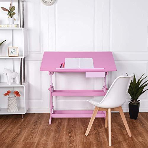 Costzon Adjustable Children Desk Drafting Table Art & Craft Drawing Desk w/Drawer ()