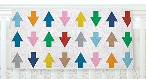 KESS InHouse Project M Arrows Up and Down White Fleece Baby Blanket 40 x 30 [並行輸入品]   B077ZV4D9T