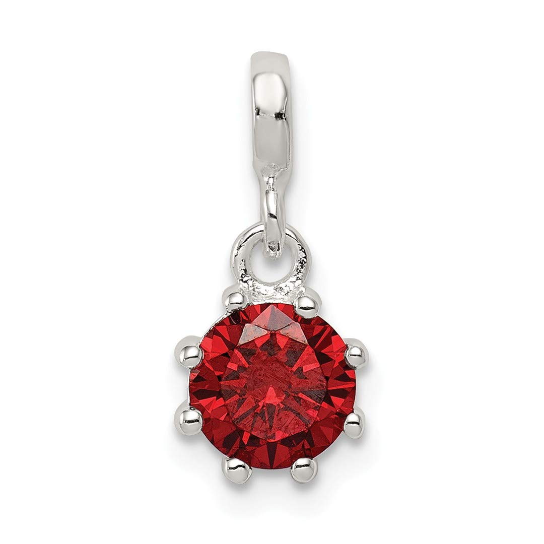 ICE CARATS 925 Sterling Silver Dark Red Cubic Zirconia Cz Enhancer Necklace Pendant Charm Fine Jewelry Ideal Gifts For Women Gift Set From Heart