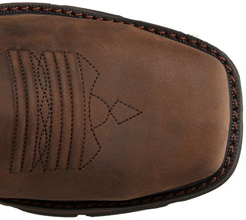 Ariat Hommes Groundbreaker Large Carré H2o Acier Orteil De Travail Boot Palm Marron / Balistique Marron