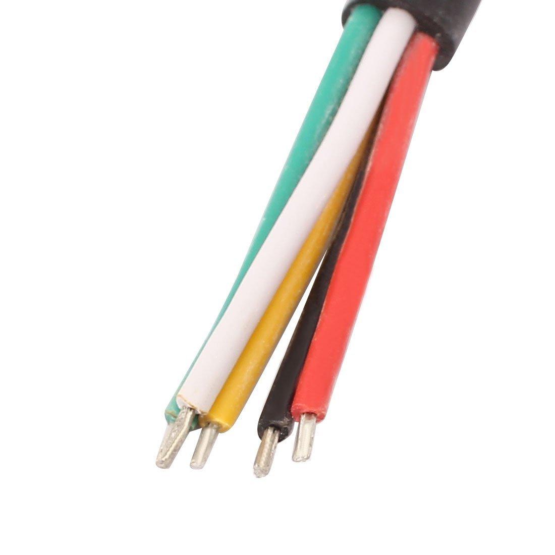 eDealMax 2 Par 5P de 0, 5 mm a prueba de agua del adaptador del conectador macho a hembra Cable para LED - - Amazon.com