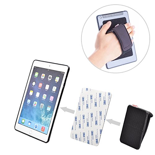 TFY Padded Hand-Strap plus Hook & Loop Fastening Tape Adhesive Patch - DIY Detachable Hand-Strap for Smartphones, Tablets and More - iPhones - Samsung Galaxy S7/S7 Edge - iPad Pro 9.7'' - iPad by TFY (Image #1)