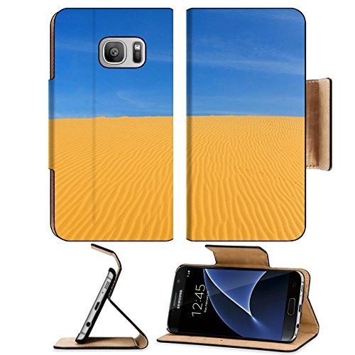 Luxlady Premium Samsung Galaxy S7 Flip Pu Leather Wallet Case IMAGE ID: 23083115 Sand Pattern on Sand - T Mobile Desert Ridge