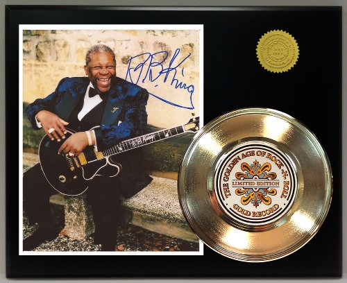 Bb King Autograph - B. B. King Gold Record Signature Series LTD Edition Display