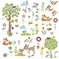 Defonia Woodland Creatures Wall Decals Animals Trees Room Decor Stickers Deer Forest New