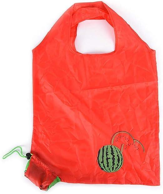 Süß Wassermelone Wiederverwendbar Einkaufstasche Tragetasche Beutel Einklappen Waschbar Robust Polyester Einkaufstüte Einkaufen Eco Taschen von