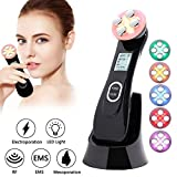 Face Lifting Machine 5 in 1 R-F Skin Tightening Machine EMS Massager for Wrinkle Remover Anti-aging Colors Light Beauty Device