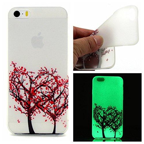 iPhone 6S / iPhone 6 Coque , Apple iPhone 6S / iPhone 6 Coque Lifetrut® [ arbre d'amour ] Colorful Silicone Cover Glow dans l'affaire de la peau foncé Noctilucent Ultra Slim douce et lumineuse TPU Coq