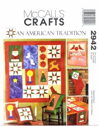 McCall's 2942 Crafts Sewing Pattern Christmas Decorations An American Tradition