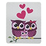 Mouse Pad Mat - Tsmine Washable MousePad Non-slip Rubber Gaming Mouse Pad for Home,Office & Travel, 9.5 x 7.9 in,Full of Love Owl Family