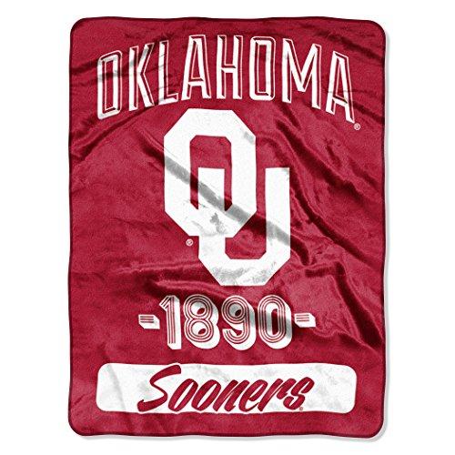 Classic Team Throw Blanket (Officially Licensed NCAA Oklahoma Sooners Varsity Micro Raschel Throw Blanket, 46