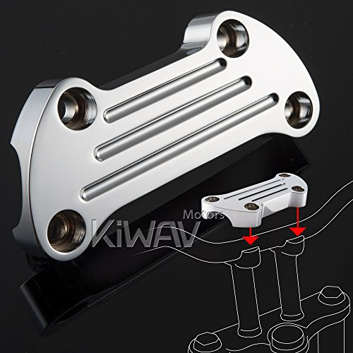 KiWAV aluminum chrome finned Top upper custom Clamp for Harley Davidson bike 1