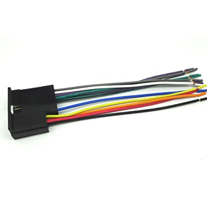 amazon com: car stereo cd player wiring harness wire aftermarket radio  install 2000-2002 kia spectra sk1003-11: car electronics