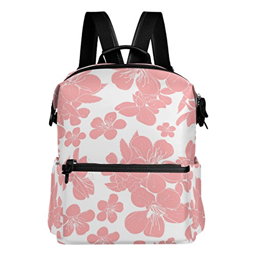 Casual Light Cherry (ALAZA Cherry Blossom Casual Backpack Lightweight Travel Daypack Student School Bag)