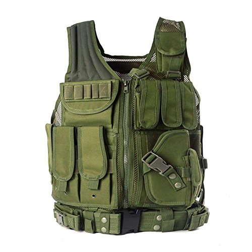 YAKEDA police vest,military vest,army vest,stock in khaki color/woodland...