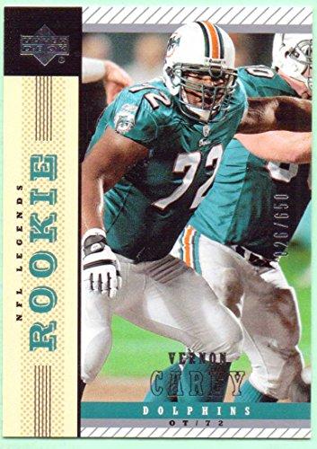 Vernon Carey 2004 UD NFL Legends Rookie #159 - 026/650 - Miami Dolphins