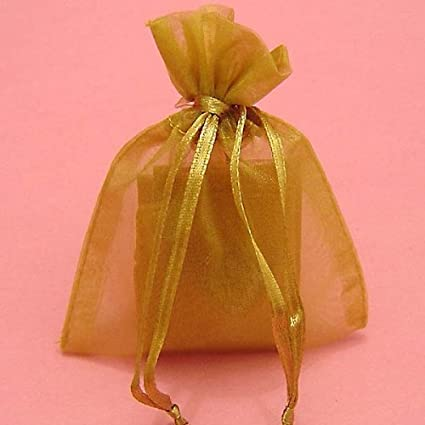 amazon com rina s garden organza favor bags 3 x4 gold 150