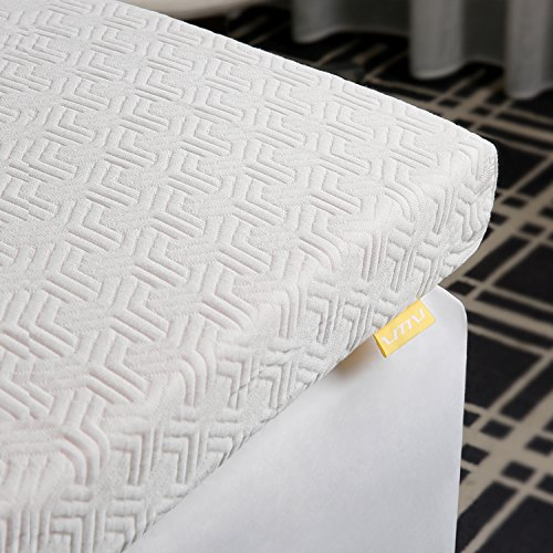 UTTU 3-Inch Red Respira Memory Foam Mattress Topper, 2-Layer Ventilated Design Bed Topper, Removable Hypoallergenic Soft Cover, CertiPUR-US - California King ()