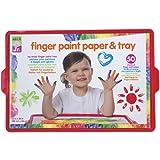 ALEX Toys - ALEX Jr. Tots Finger Paint Paper & Tray - Art Supplies  1807T