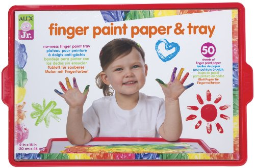 alex-jr-finger-paint-paper-and-tray